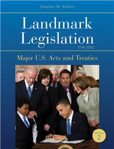 Landmark Legislation 1774-2012