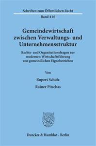 Gemeindewirtschaft zwischen Verwaltungs- und Unternehmensstruktur.