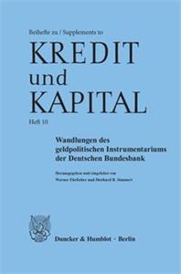 Wandlungen des geldpolitischen Instrumentariums der Deutschen Bundesbank.