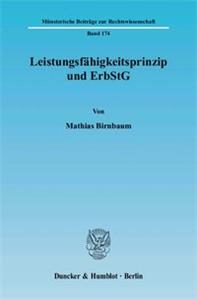 Leistungsfähigkeitsprinzip und ErbStG.