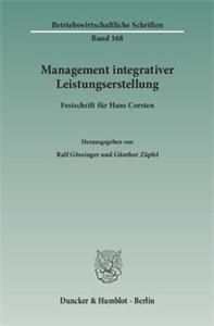 Management integrativer Leistungserstellung.