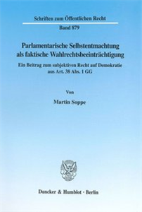 Parlamentarische Selbstentmachtung als faktische Wahlrechtsbeeinträchtigung.