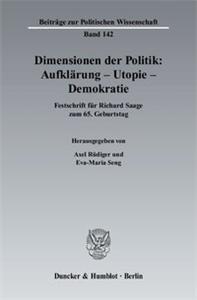 Dimensionen der Politik: Aufklärung – Utopie – Demokratie.