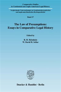 The Law of Presumptions: Essays in Comparative Legal History.