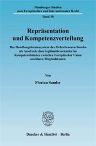 Repräsentation und Kompetenzverteilung.