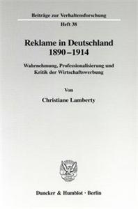 Reklame in Deutschland 1890-1914.