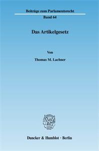 Das Artikelgesetz.
