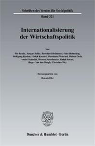 Internationalisierung der Wirtschaftspolitik.
