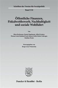 Öffentliche Finanzen, Fiskalwettbewerb, Nachhaltigkeit und soziale Wohlfahrt.