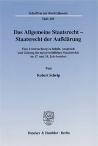 Das Allgemeine Staatsrecht - Staatsrecht der Aufklärung.