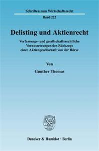 Delisting und Aktienrecht.