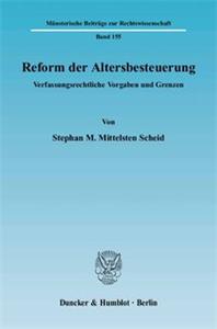 Reform der Altersbesteuerung.