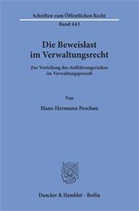 Die Beweislast im Verwaltungsrecht.