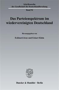 Das Parteienspektrum im wiedervereinigten Deutschland.