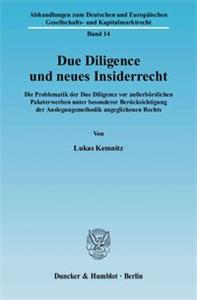 Due Diligence und neues Insiderrecht.