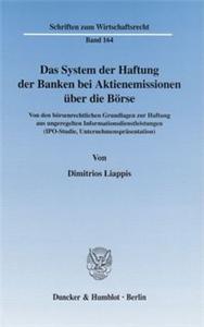 Das System der Haftung der Banken bei Aktienemissionen über die Börse.