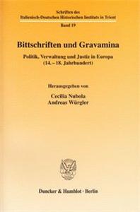 Bittschriften und Gravamina.