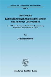 Horizontale Rationalisierungskooperationen kleiner und mittlerer Unternehmen.