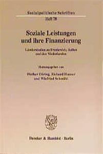 Soziale Leistungen und ihre Finanzierung.