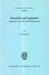 Herrschaft und Legitimität.