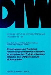 Sonderregelungen zur Vermeidung von unerwünschten Wettbewerbsnachteilen bei energieintensiven Produktionsbereichen im Rahmen einer Energiebesteuerung mit Kompensation.