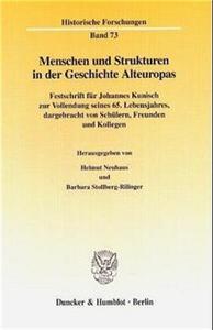 Menschen und Strukturen in der Geschichte Alteuropas.
