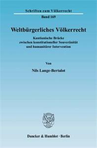 Weltbürgerliches Völkerrecht.