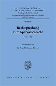 Rechtsprechung zum Sparkassenrecht.