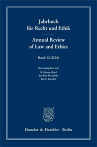 Jahrbuch für Recht und Ethik / Annual Review of Law and Ethics.