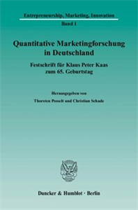 Quantitative Marketingforschung in Deutschland.