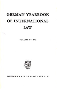 German Yearbook of International Law / Jahrbuch für Internationales Recht.
