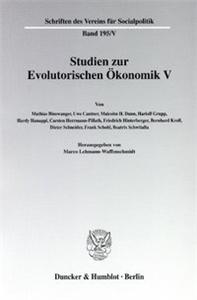 Studien zur Evolutorischen Ökonomik V.