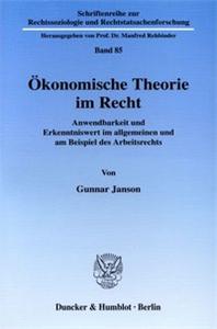 Ökonomische Theorie im Recht.