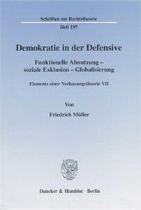 Demokratie in der Defensive.