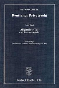 Deutsches Privatrecht. 4 Bände.