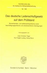 Das deutsche Ladenschlußgesetz auf dem Prüfstand.