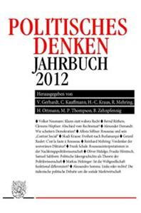 Politisches Denken. Jahrbuch 2012.