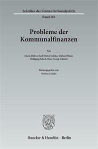 Probleme der Kommunalfinanzen.
