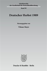 Deutscher Herbst 1989.