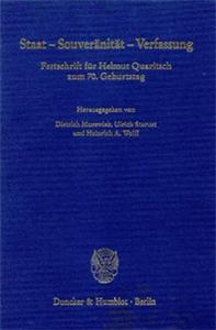 Staat - Souveränität - Verfassung.
