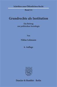 Grundrechte als Institution.
