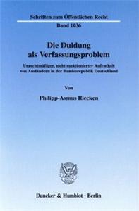 Die Duldung als Verfassungsproblem.