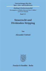 Steuerrecht und Dividenden-Stripping.