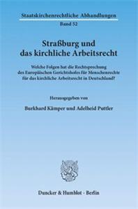 Straßburg und das kirchliche Arbeitsrecht.