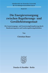Die Energieversorgung zwischen Regulierungs- und Gewährleistungsstaat.