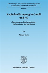 Kapitalaufbringung in GmbH und AG.