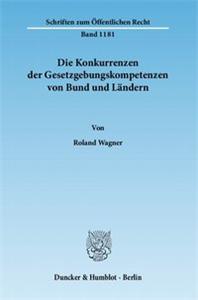 Die Konkurrenzen der Gesetzgebungskompetenzen von Bund und Ländern.