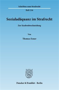 Sozialadäquanz im Strafrecht.