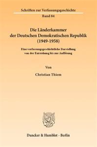 Die Länderkammer der Deutschen Demokratischen Republik (1949–1958).