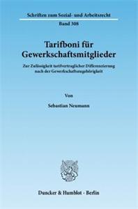 Tarifboni für Gewerkschaftsmitglieder.